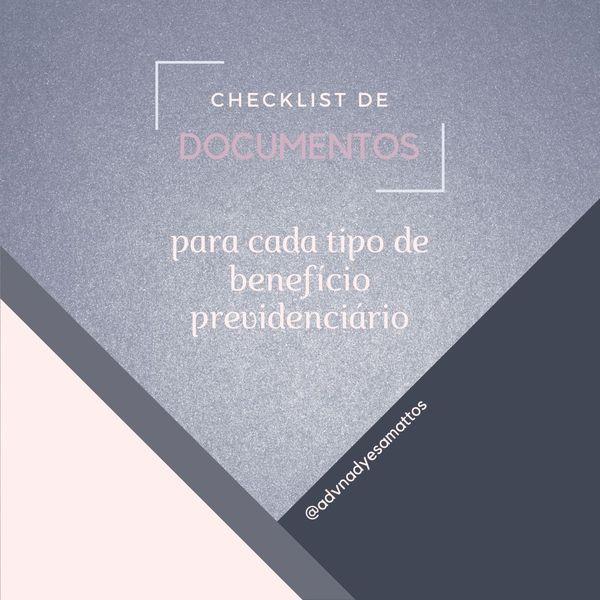 Imagem principal do produto Checklist de documentos para Benefícios Previdenciários