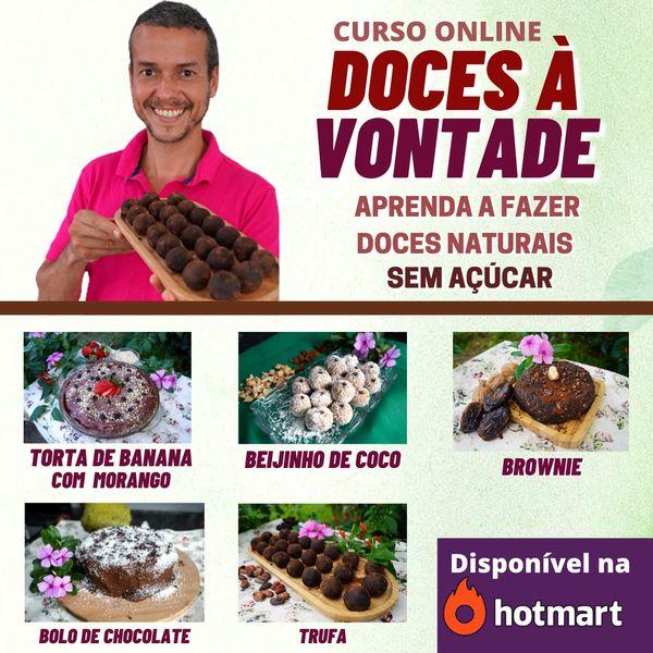 Imagem principal do produto DOCES À VONTADE - SUBSTITUA O AÇÚCAR E A FARINHA!