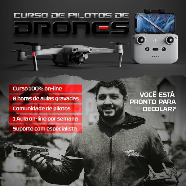 Imagem principal do produto Curso de Pilotos Drone Guarujá