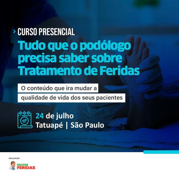 Imagem principal do produto CURSO : Tudo que o Podólogo precisa saber sobre o Tratamento de Feridas