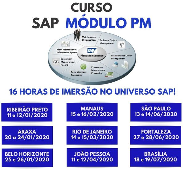 Sap Events 2020.Treinamento Presencial Sap Modulo Pm Araxa Yuri Simao Learn A New Skill Tickets For Events Hotmart