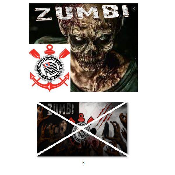 Imagem principal do produto Corinthians zumbi foto para estampar camisetas 3