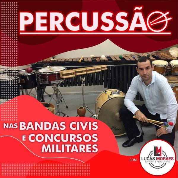 Imagem principal do produto A percussão nas bandas civis e concursos militares