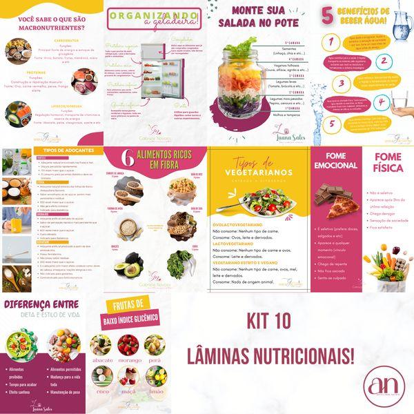 Imagem principal do produto KIT 10 LÂMINAS NUTRICIONAIS