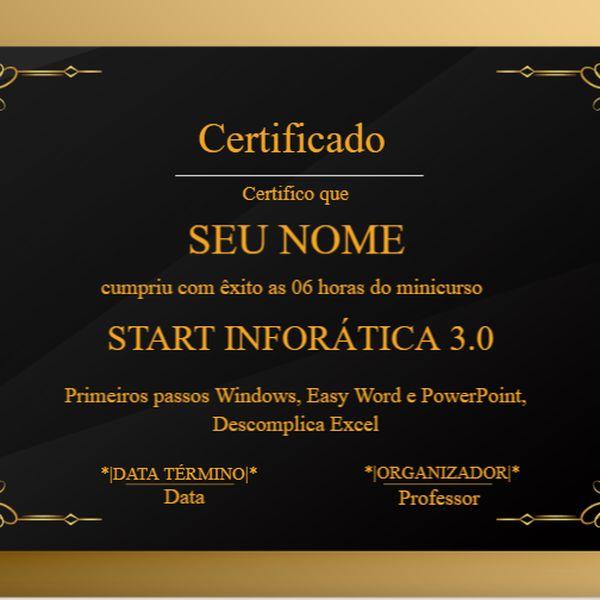 Imagem principal do produto Certificação Start Informática