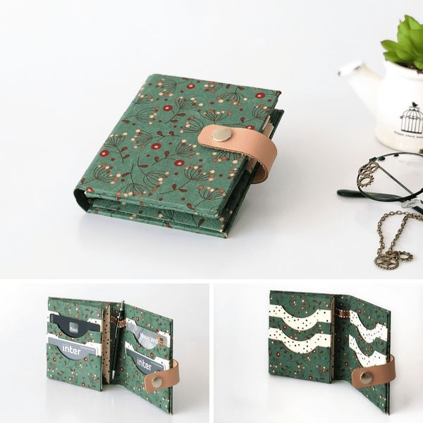 Imagem principal do produto Carteira Feminina Pequena   Cartonagem do seu Jeito
