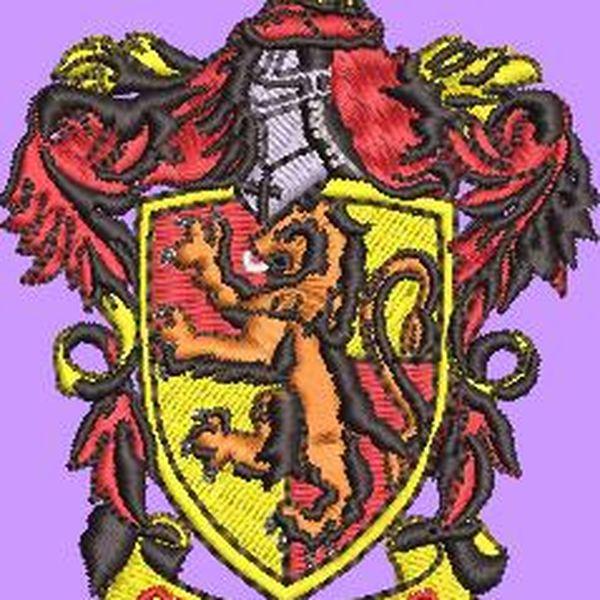 Imagem principal do produto Diseño de Bordado (Harry Potter  Griffindor) en formato editable emb, y de maquinas dst, jef. pes. para bordadoras