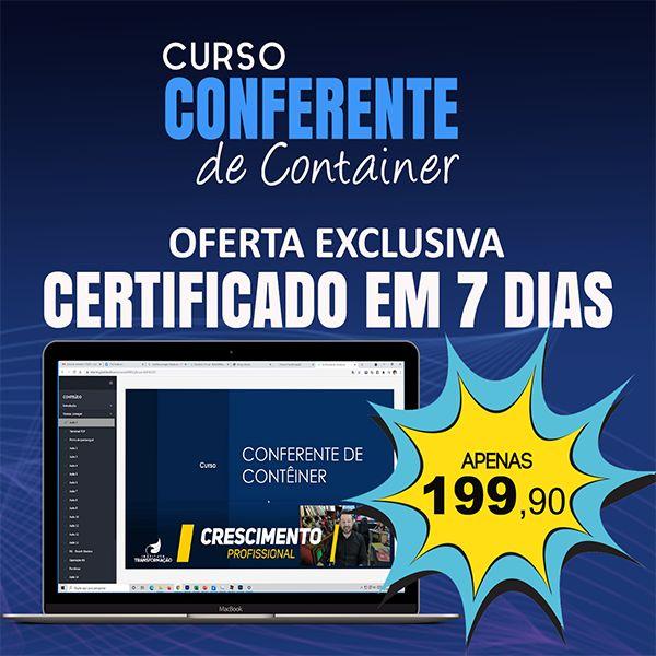 Imagem principal do produto Curso - Conferente de Container