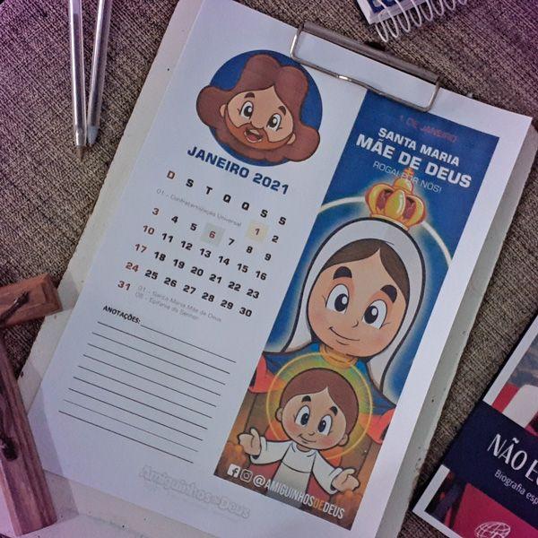 Imagem principal do produto Calendário Amiguinhos de Deus 2021