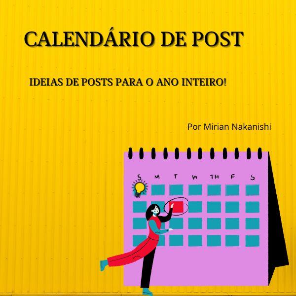 Imagem principal do produto Calendário de Posts - 365 ideias de publicações