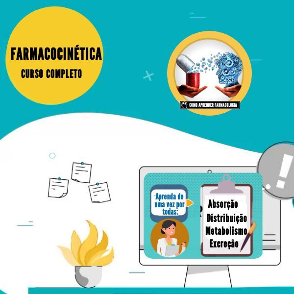 Imagem principal do produto FARMACOCINÉTICA - CURSO COMPLETO