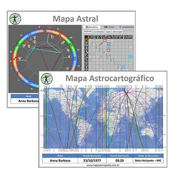 Imagem principal do produto COMBO: Mapa Astral Natal + Mapa Astral de Viagens COMPLETO