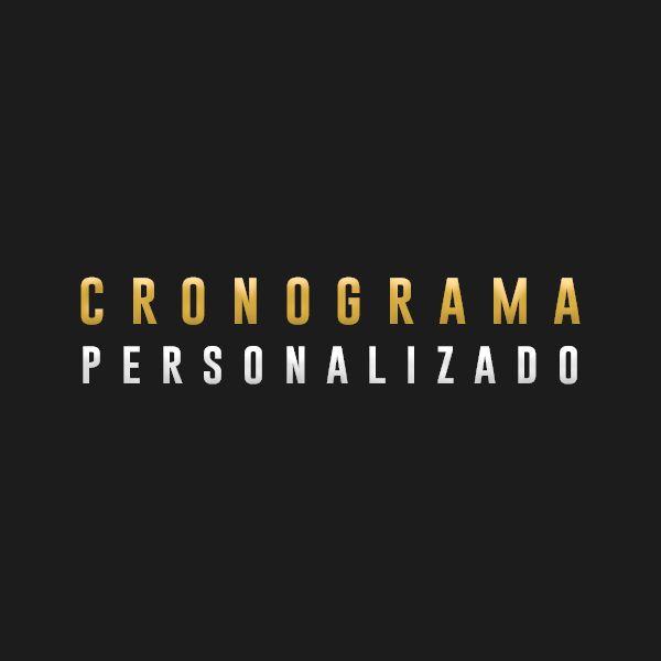 Imagem principal do produto Cronograma Personalizado - G.P.A. VIP