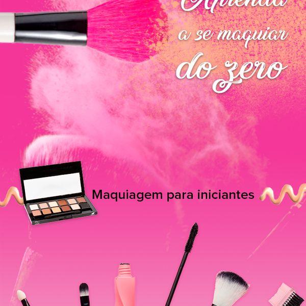 Imagem principal do produto Aprenda maquiagem do zero
