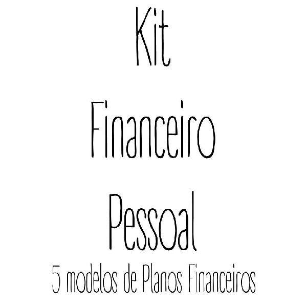 Imagem principal do produto Kit - Plano Financeiro Pessoal