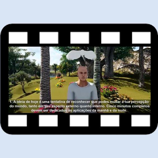 """Imagem principal do produto Lições em vídeos HD, 1ª Edição, lições de 1 até 220+ Introdução ao livro de Exercícios do """"Um Curso em Milagres""""."""