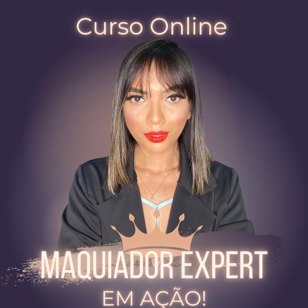 """Imagem principal do produto Curso Online """"MAQUIADOR EXPERT EM AÇÃO!"""""""