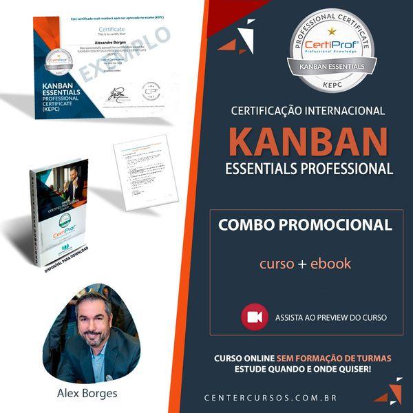 Imagem principal do produto KANBAN ESSENTIAIS (curso oficial CertiProf )
