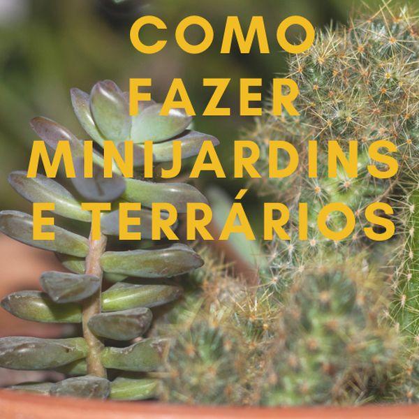 Imagem principal do produto COMO FAZER MINIJARDINS E TERRÁRIOS DE  FORMA FÁCIL