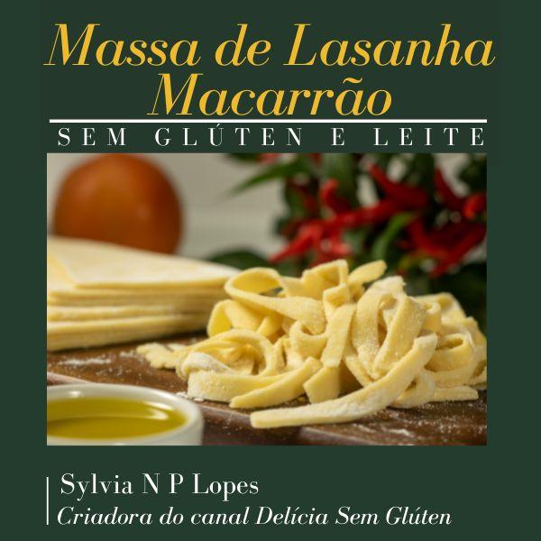Imagem principal do produto APRENDA: MASSA DE LASANHA E MACARRÃO CASEIRO SEM GLÚTEN E SEM LEITE