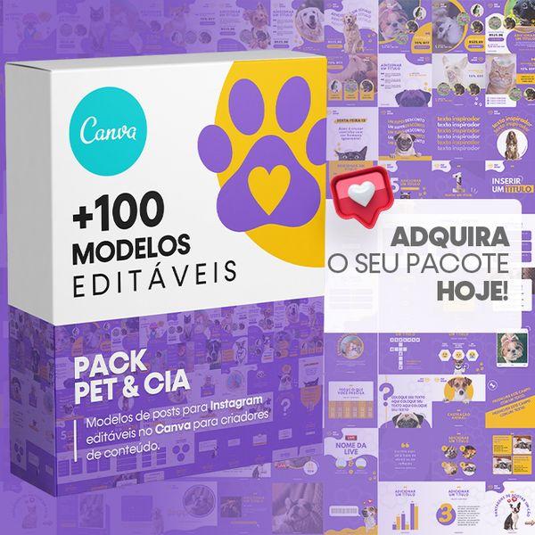 Imagem principal do produto Canva +100 Templates Pet & Cia Para Instagram