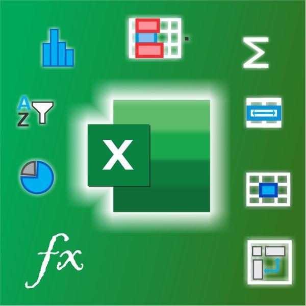 Imagem principal do produto CURSO DE EXCEL DESDE CERO -BASICO - INTERMEDIO - MAS DE 100 FUNCIONES - 5 EJEMPLOS REALES