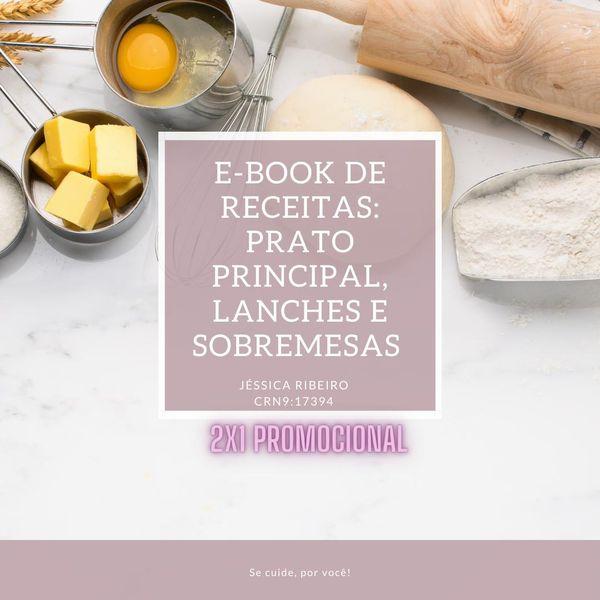 Imagem principal do produto E-book Lanches, Sobremesas e Principais Refeições