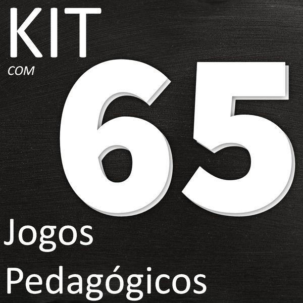 Imagem principal do produto KIT COM 65 JOGOS PEDAGÓGICOS