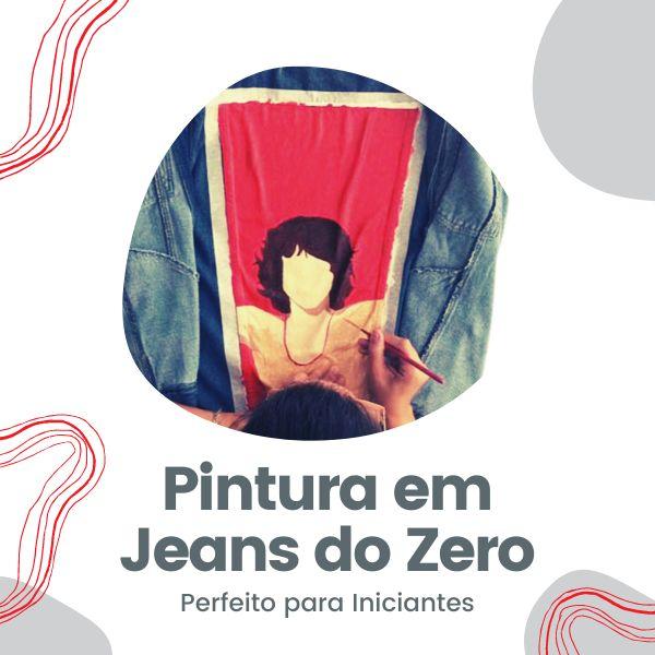 Imagem principal do produto Curso de Pintura em Jeans do ZERO: Perfeito para iniciantes.