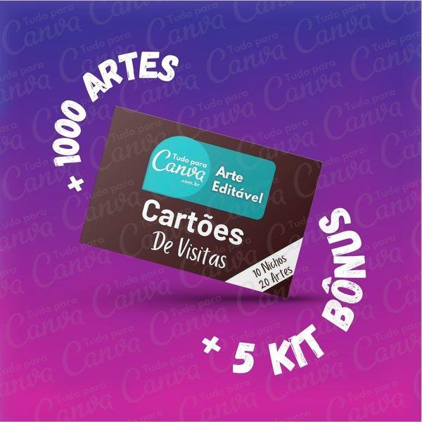 Imagem principal do produto Cartões de Visita - Artes Para Canva +1000Artes+5KitsBônus