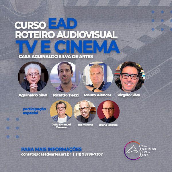 Imagem principal do produto CURSO DE ROTEIRO AUDIOVISUAL: TV E CINEMA - CASA AGUINALDO SILVA DE ARTES