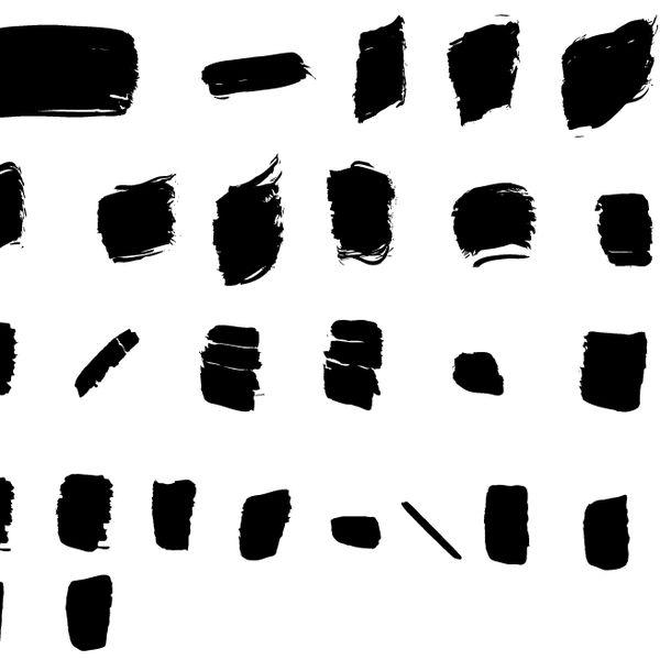 Imagem principal do produto 27 pincéis de ilustração para Illustrator