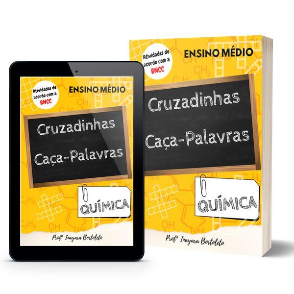 Imagem principal do produto E-book Cruzadinhas e Caça-palavras de Química