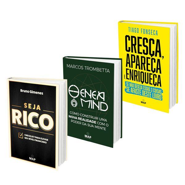 Imagem principal do produto Combo de Livros MAP: Seja R. + Eneamind + Cresça, Apareça Enriqueça