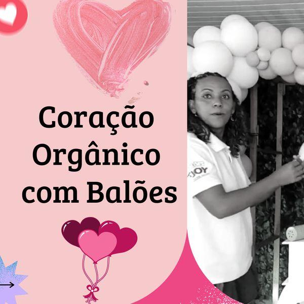 Imagem principal do produto Coração Orgânico de Balões
