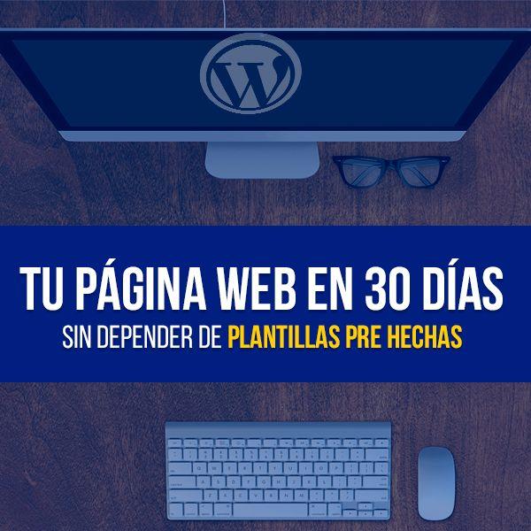 Imagem principal do produto Crea Tu Página Web En 30 Días O Menos