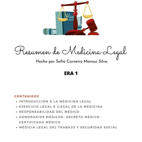 Imagem principal do produto ERA 1- Medicina Legal