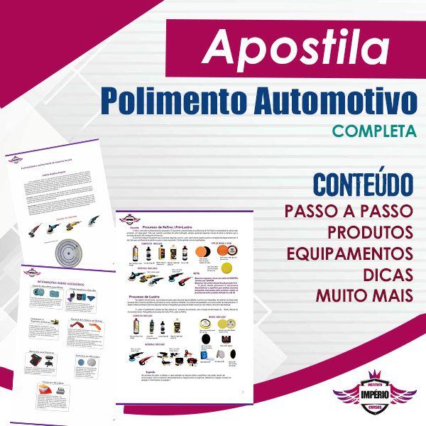 Imagem principal do produto Apostila Completa de Polimento Automotivo