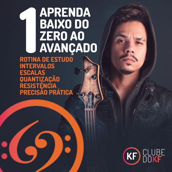 Imagem principal do produto Elementos Básicos da Música - Aprenda Baixo do Zero ao Avançado (Curso 1 - Clube do KF)