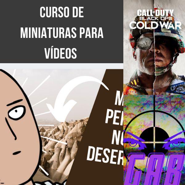Imagem principal do produto Curso de miniaturas para vídeos ( Youtube/ Geral )