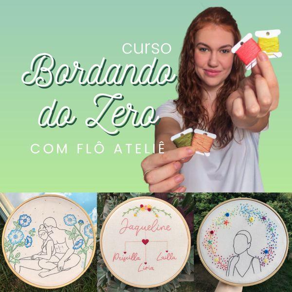 Imagem principal do produto Bordando do Zero com Flô Ateliê