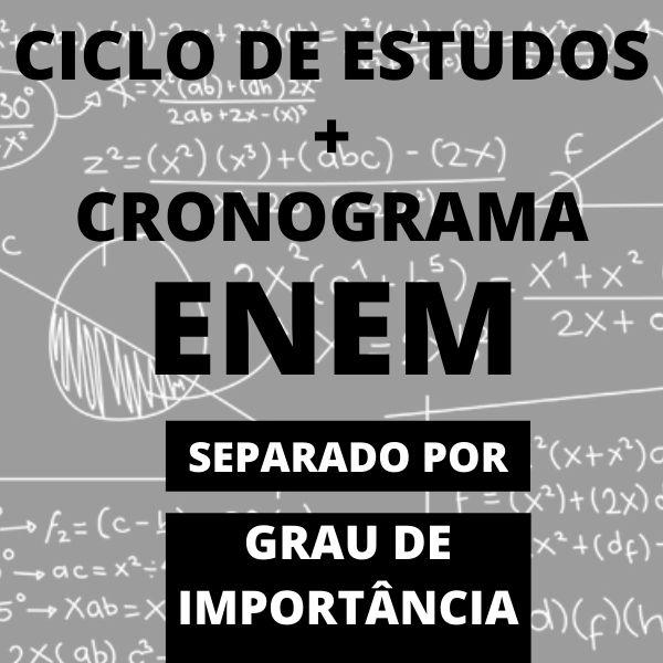 Imagem principal do produto Ciclo de estudos enem + cronograma enem + bônus