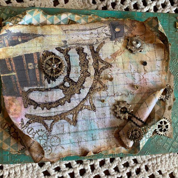 Imagem principal do produto Caixa livro rústica com técnica Laureana