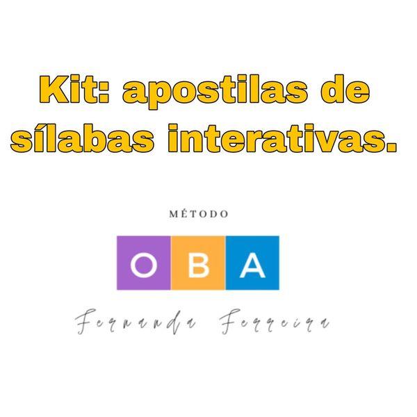 Imagem principal do produto Kit: Sílabas Interativas