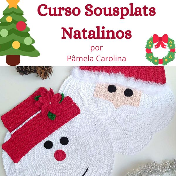 Imagem principal do produto Curso Sousplats Natalinos de Crochê