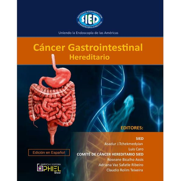 Imagem principal do produto Cáncer Gastrointestinal Hereditario - Edición en Español - SIED - Sociedad Interamericana de Endoscopia Digestiva