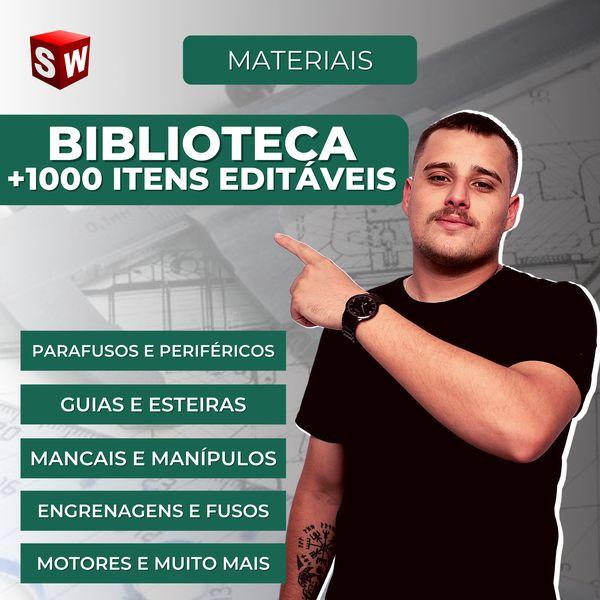 Imagem principal do produto Biblioteca Solidworks +1000 Itens