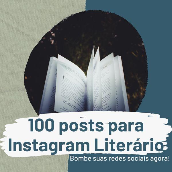 Imagem principal do produto 100 posts prontos para Instagram Literário