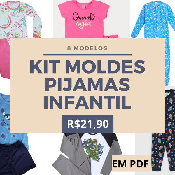 Imagem principal do produto KIT MOLDES DE PIJAMAS INFANTIL