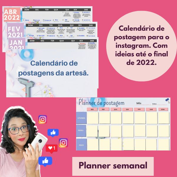 Imagem principal do produto Calendário de postagem + planner semanal
